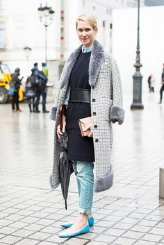 Mixed and matched pieces work well layering with one another. // #StreetStyle