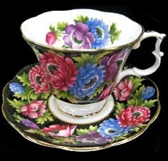 Royal Albert - Black Chintz - Special Collections www.royalalbertpatterns.com