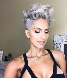 Today we have the most stylish 86 Cute Short Pixie Haircuts. Pixie haircut, of course, offers a lot of options for the hair of the ladies'… Continue Reading → Pixie Bob Haircut, Short Pixie Haircuts, Short Hair Cuts, Pixie Mohawk, Short Blonde Pixie, Messy Bob Hairstyles, Trending Hairstyles, Straight Hairstyles, Hairstyles 2018