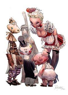 Azimut - Manie Ganza et les Saugres par Jean-Baptiste Andreae, Wilfrid Lupano - Illustration