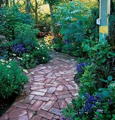 Garden path by lovey.  Ideally, the path always appears to take you to a little hidden garden space  -ls
