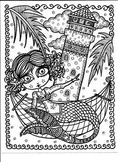 Coloring Book Key West Mermaids Be the Artist Fun by ChubbyMermaid