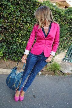 Blazers and jeans #platformpumpsandjeans
