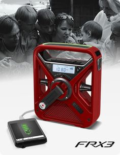 """Eton's American Red Cross FRX3 Hand Turbine includes a radio with AM/FM, all seven NOAA weather band stations and the """"Alert"""" system, which automatically broadcasts emergency weather alerts for your area such as hurricanes, tornadoes and severe storms. It also features a solar panel which offers 10-15 minutes of radio and flashlight use. $47.99"""