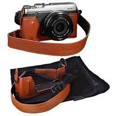 Fujifilm Leather Case for Fujifilm XE-1/ XE-2. Yang warna coklat.