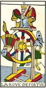 LA ROVE DE FORTUN. LA rueda de la fortuna:el fin de un ciclo, necesitamos que algo nos ayude a pasar a otra dimensión.