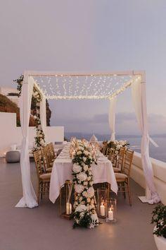 An Intimate Santorini Wedding That Redefines Luxury ⋆ Ruffled Intimate Wedding Reception, Private Wedding, Small Intimate Wedding, Wedding Dinner, Intimate Weddings, Our Wedding, Dream Wedding, Small Weddings, Wedding Tips