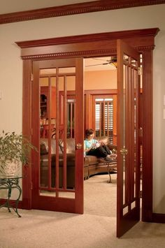French Doors in Arts & Crafts Style Homes — Miss the French doors in the house. Craftsman Interior, Craftsman Style Homes, Craftsman Bungalows, French Interior, Interior Doors, Interior Design, Craftsman Style Interiors, Victorian Interiors, Interior Shop