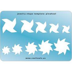 Jewelry Shape Template - Pinwheel