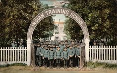 Entrance to Indian Training School - Chemawa