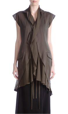 Yohji Yamamoto Draped Hem Vest