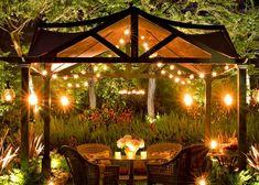 DIY Pergola Outdoor Lighting for Summer