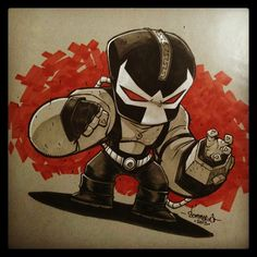Baby Bane! I always like going for the classic version! @copicmarker on toned paper.