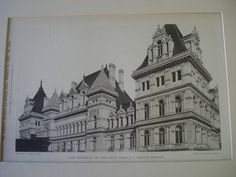 Upper Portions of the State Capitol, Albany, NY, 1893