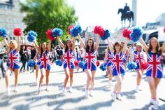 Zoo Fever on shoot for CHEER GREAT BRITAIN video - sponsored by Cheerobics® and Crussh Juice Bars