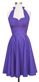 Trashy Diva Varga Dress | Vintage Inspired Dress | Purple Poplin / Yet another gorgeous Trashy Diva dress that I need!
