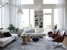 Amazing, amazing, amazing loft in Stockholm (Daily Dream Decor) Living Room Interior, Home Living Room, Living Room Designs, Living Spaces, Beautiful Interior Design, Home Interior Design, Design Hall, Inspiration Ikea, Gravity Home