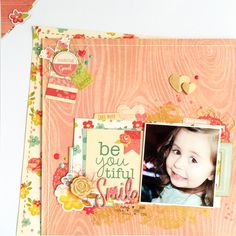 Adventures In Scrapbooking Heritage Scrapbook Pages, Gossamer Blue, Image Layout, Good Notes, Hello Gorgeous, Beautiful Smile, Scrapbooking Layouts, One Pic, Mini Albums