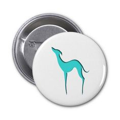 "Turquoise blue greyhound silhouette. Digital art. Customizable! (Click on ""Customize it!"" button to add text, rotate/resize the image or change the color of the background)"