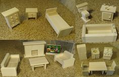 Wooden Dollhouse Furniture Hand Crafted 2017-18 door upperairs op Etsy https://www.etsy.com/nl/listing/195578880/wooden-dollhouse-furniture-hand-crafted