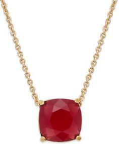 kate spade new york Gold-Tone Mini Stone Pendant Necklace