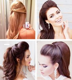 Hairstyles Ponytail Homecoming Ideas in 2019 Prom Hair Updo Elegant, Elegant Hairstyles, Party Hairstyles, Ponytail Hairstyles, Bride Hairstyles, Vintage Hairstyles, Cool Hairstyles, Wedding Hair And Makeup, Hair Makeup