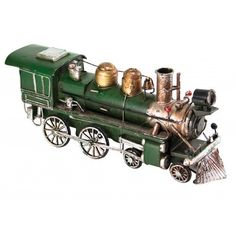 Green Train Engine - Vintage Style Collectible Vintage Inspired, Vintage Style, Vintage Fashion, Train Engines, Cannon, Military Vehicles, Nostalgia, Engineering, Green