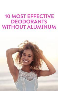 10 Most Effective Deodorants Without Aluminum