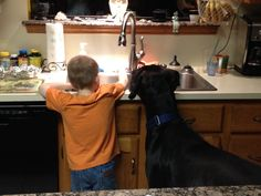 My son and Great Dane Jax. Partners in crime.