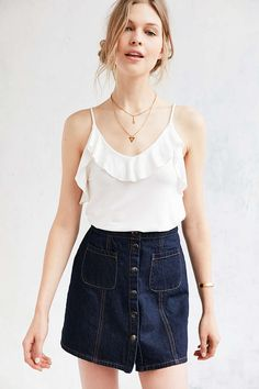 Kimchi Blue Flutter Neck Cami - Urban Outfitters