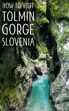 How to visit Tolmin Gorge, Slovenia. Tips for getting here, best things to do, visiting with kids, comparison with Vintgar Gorge. Is Tolmin Gorge worth it? Visit Slovenia, Slovenia Travel, Europe Travel Guide, Europe Destinations, Travel Guides, Bohinj, Koh Tao, European Travel, Vacation Trips