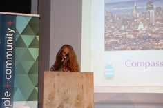 Compassionate California's Sande Hart presenting Compassion Week 2014 Awards