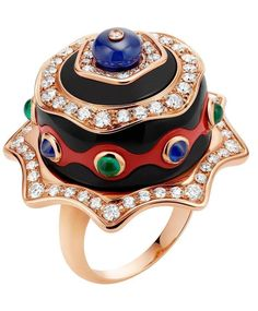 A treat from Bulgari...A delicious-looking chocolate cake ring with smooth coral and chalcedony icing and emerald, sapphire and white diamond sprinkles in 18-carat rose gold. #fashion #jewelry #style #diamonds #rings #jewelryaddict #jewelrydesigner #jewelrylover #jewelryporn #jewelryoftheday #jewelryjunkie #glamour #glamorous #bracelet #fashion#fashionista #fashionable #want #need #jewels #instadaily #instalike #instagram #love #bling #blingbling #swag #diamondsareforever