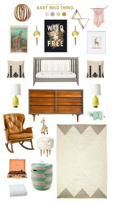 Get inspired with this Baby Wild Thing nursery, and then pin to win with Honest & Lay Baby Lay!