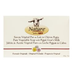 Nature by Canus Pure Vegetable Soap with Fresh Goat's Milk Original