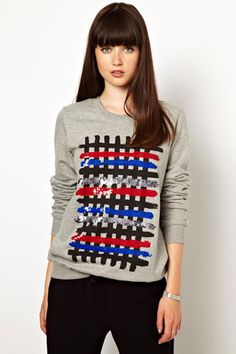 Markus Lupfer Sweatshirt with Checked Brush Strokes, $371.27, available at ASOS.