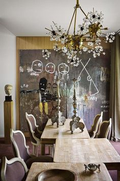 Eclectic Dining Room in Toulouse, FR by Suduca & Mérillou