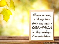 Congratulations for good grades you are a champion greeting card