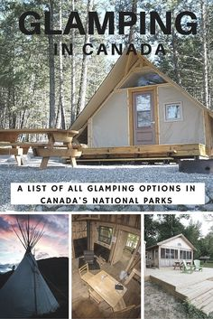 Glamping in Canada! Stay in a oTENTik, Yurt, or Rustic Cabin in one of Canada's National Parks.
