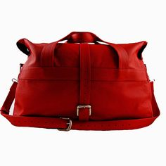 handcrafted red leather travel bag by freeload leather accessories | notonthehighstreet.com