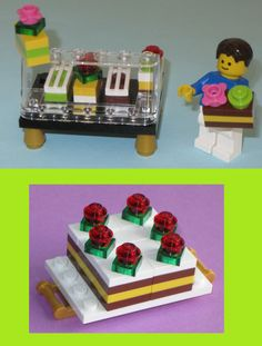 Lego Custom Cake Bakery Set: Wedding Cake + Pastry Counter + Chocolate Custard…