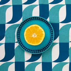 The 'Aperture' Table Runner by Skinny laMinx is perfect as a dinner party centerpiece.