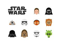 Dribbble - Free Star Wars Icons by Jory Raphael