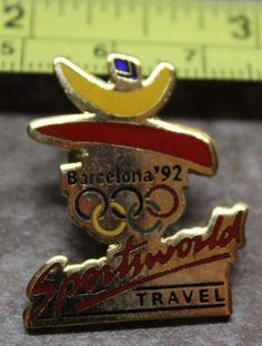 Barcelona 1992 Sportsworld Travel Summer Olympics Collectible Pin
