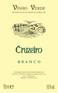 Cruzeiro vinho verde. Ideal with fish or summer salad - if VERY chilled.