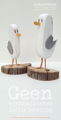 £29.50 / €33.60 Free Shipping, Meet Bosun & Skipper, our pair of seagull sculptures! driftwood art, triebholz kunst, driftwood sculpture, seagull, seagulls, etsy gifts, treat, driftwood, Kostenloser Versand, Geen Verzendkosten