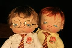 HARRY POTTER and RON   one of a kind doll by Jan Shackelford  personal collection