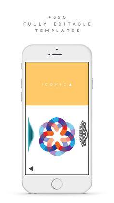 LogoScopic Studio #App para diseñar #logos desde el móvil. Solo está disponible en iOS, y aunque es muy limitada en edición, se pueden usar cientos de plantillas diferentes.