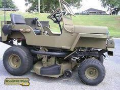 Jeep on Mower base