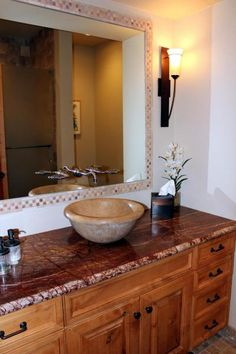 Bathroom Sink - 203 Bristlecone Pines Rd, West Sedona, Listed with Rob Schabatka from RE/MAX Sedona.